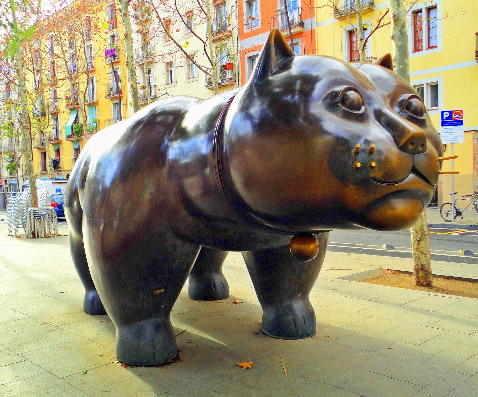 El Gato de Botero en Barcelona